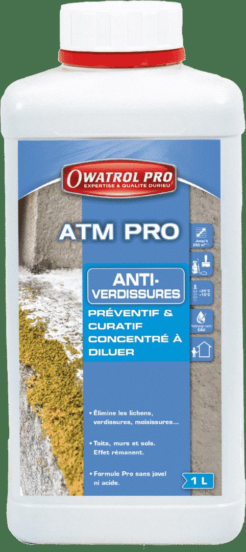 ATM PRO - Anti-mousse Anti-Algues rouges Anti-verdissures - OWATROL - Atm Pro 1L