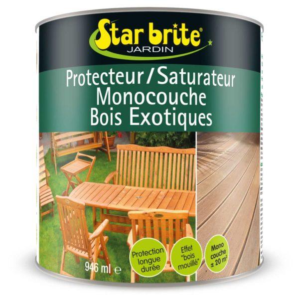 SATURATEUR BOIS EXOTIQUES 1 L - Saturateur protecteur bois exotiques - STARBRITE -