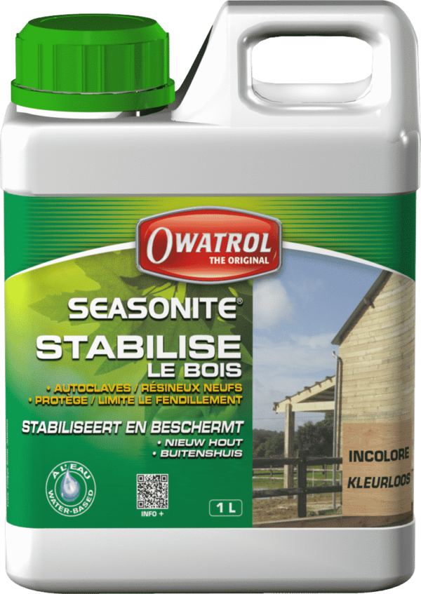 SEASONITE 1 L - Protecteur stabilisateur bois résineux neuf - OWATROL - Seasonite