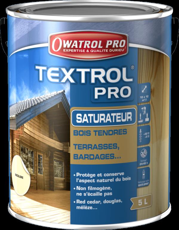 TEXTROL PRO Incolore 5 L - Saturateur bois incolore, teinté - OWATROL - Textrol Pro